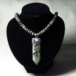 Jewelry - Labradorite Gemstone Necklace with Large Pendant